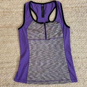 Reebok womens athletic tank top size M purple